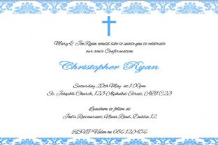 Personalised Confirmation Invitations Son Design 4